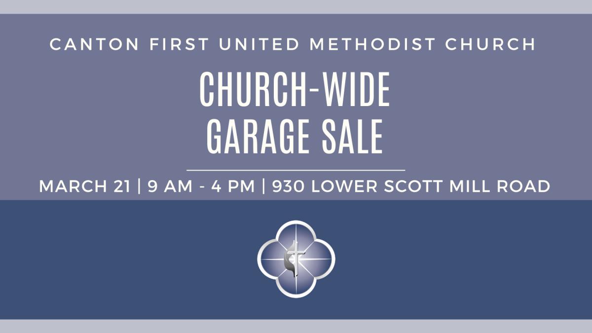 CANCELLED ***** Church-Wide Garage Sale